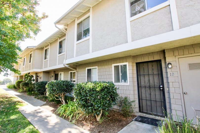 Townhomes with security doors at Vista Ladera in Vista California