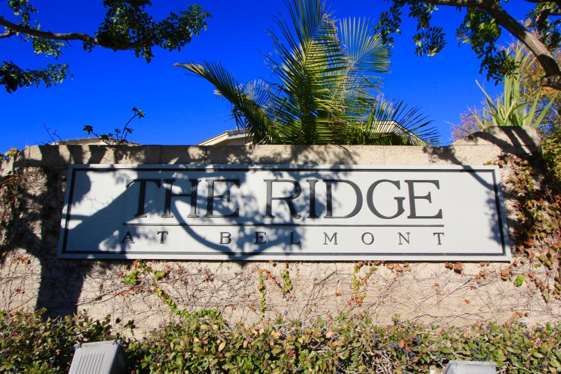 Maruqee and entrance to Anaheim Ridge Estates