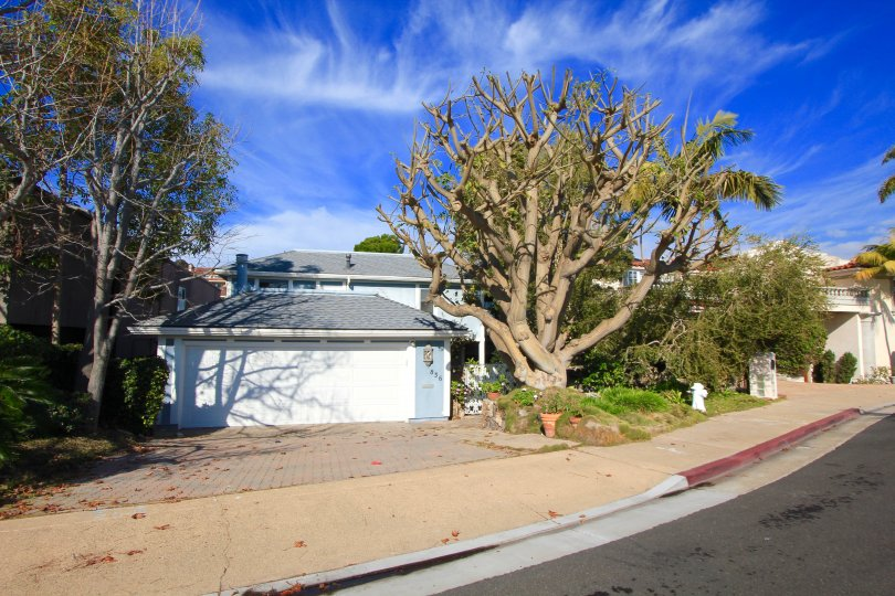 Two story home front exterior in Beacon Bay, Newport Beach CA
