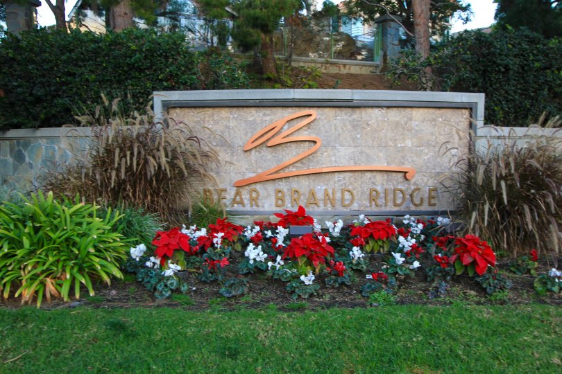 Sign and marquee to entrance of Bear Brand Ridge Laguna Niguel CA