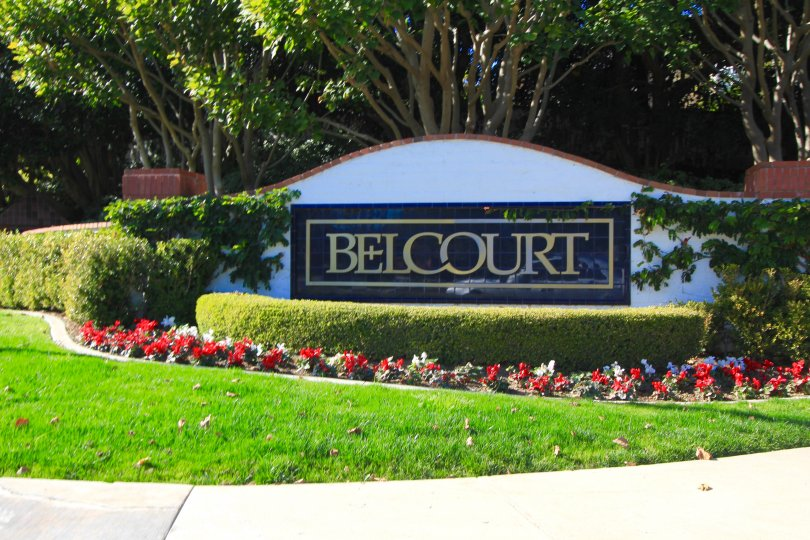 Marquee at the entrance of the community of Belcourt