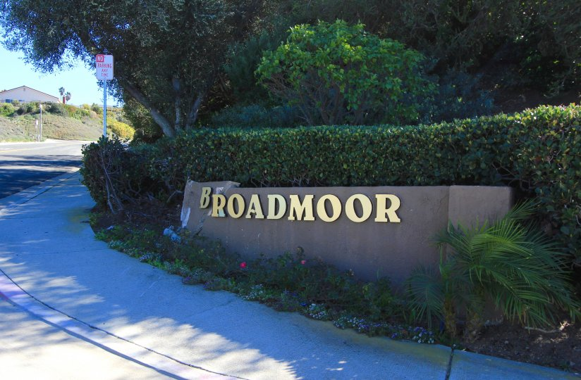 Broadmoor community marquee in San Clemente California