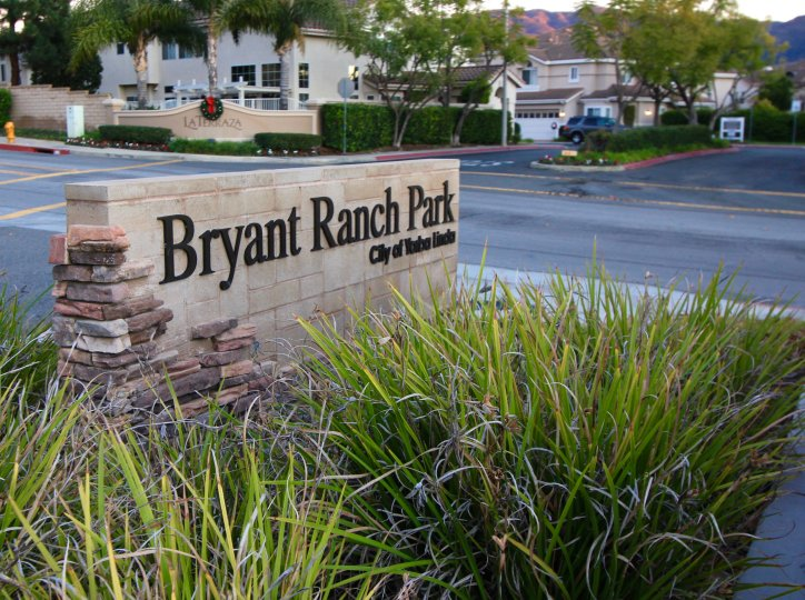 The sign for the Bryant Ranch Park in Yorba Linda