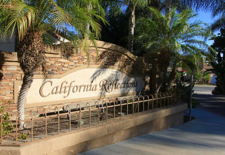 Entrance to California Reflections in Aliso Viejo Ca