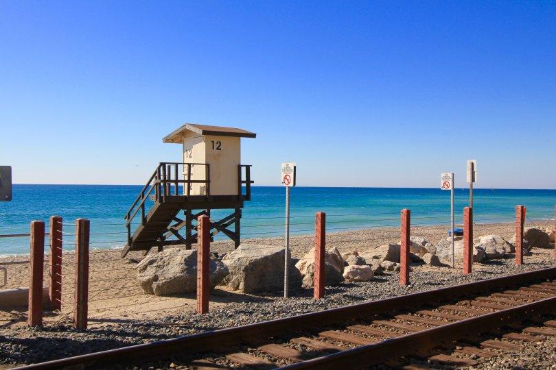 The beautiful sandy shore at Capistrano Beach in Dana Point Ca