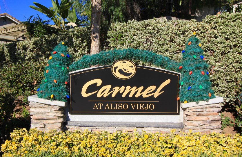 Entrance to Carmel, a community in Aliso Viejo