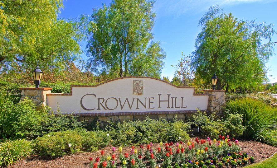 The marquee at Crowne Hill is surrounded by mature landscaping