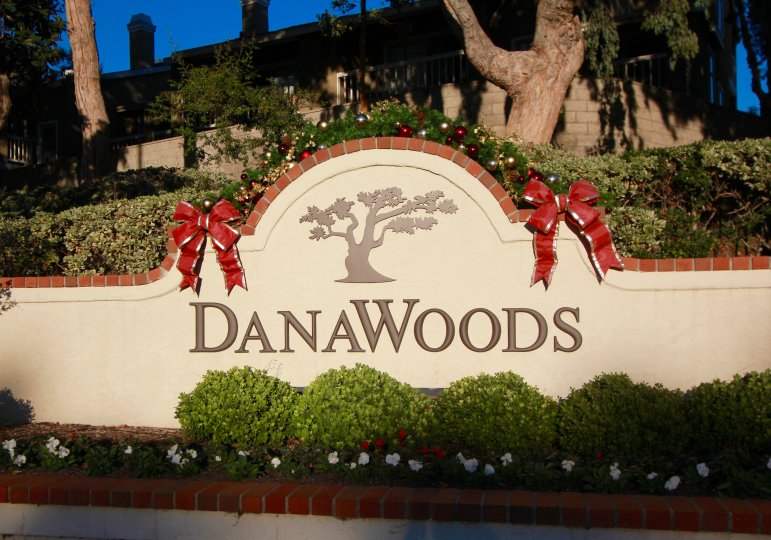 Sign located at the entrance of Dana Woods