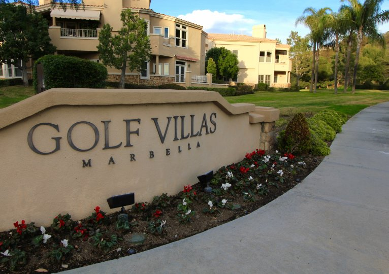 Sign for Golf Villas Marbella in San Juan Capistrano