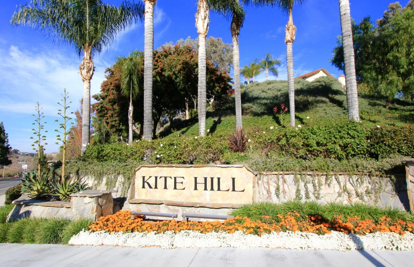 Entrance and marquee to Kite Hill, Laguna Niguel CA