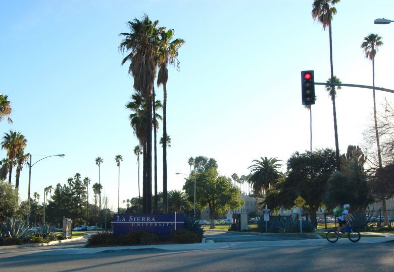 The entrance to La Sierra University in Riverside