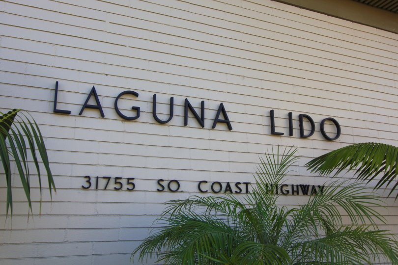 Marquee sign and entrace to Laguna Lido