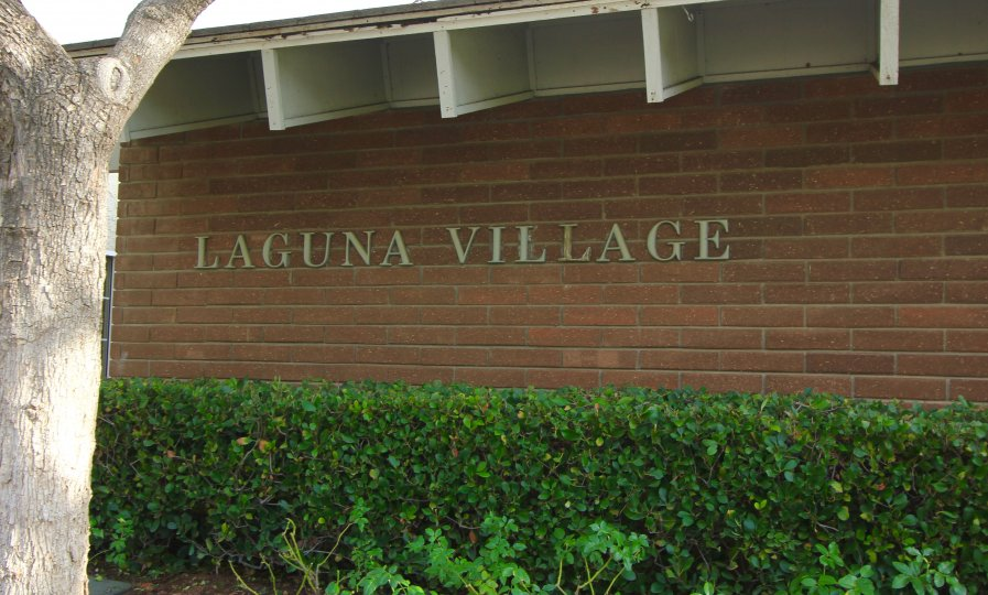 Marquee to the entrance of Laguna Village