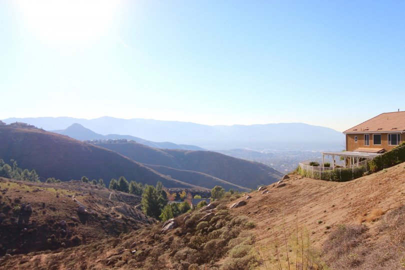 A view of the surrounding foothills from Lake Hills Reserve