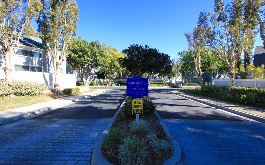 Entrance to Laurelmont in Aliso Viejo Ca