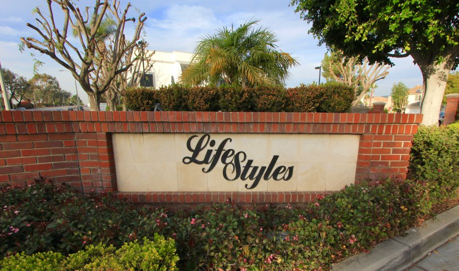 Entrance marquee to Lifestyles Costa Mesa