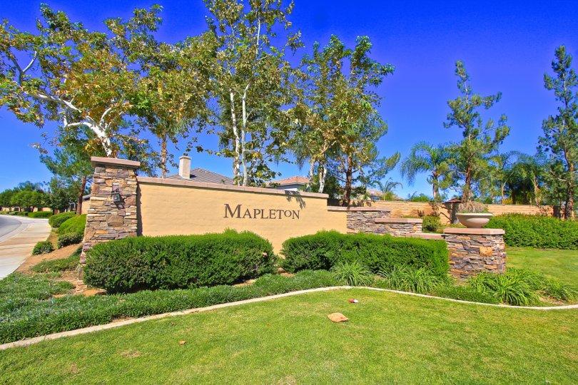 Mapleton is a master planned community in Murrieta CA