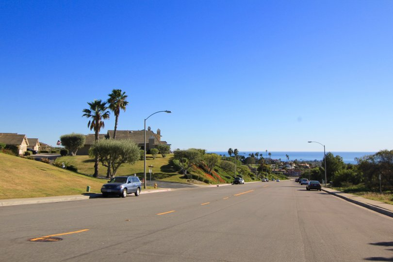 Several of the streets within Mariners Point have views to the ocean