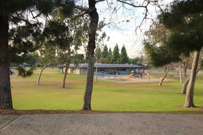 School playground area in the community of Mesa Verde