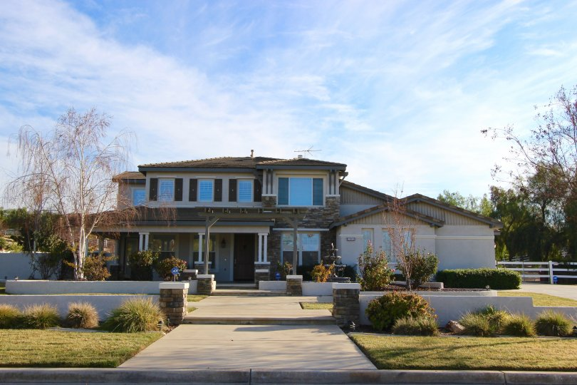 A custom two story home located within Mockingbird Canyon