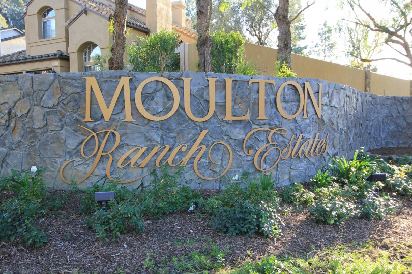 View of the front marquee in the community Moulton Ranch Laguna Hills CA