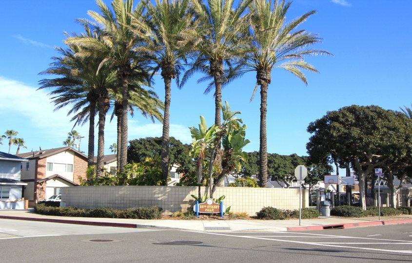 38th strteet park marquee and entrance in Newport Island, Newport Beach CA