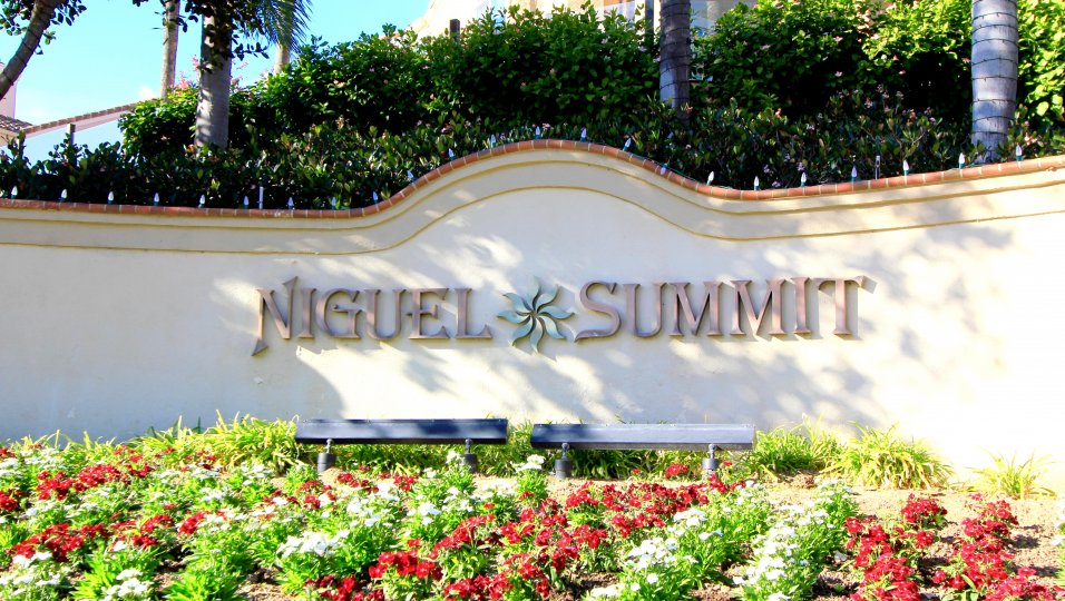 Marquee and sign entrance to Niguel Summit, Laguna Niguel CA