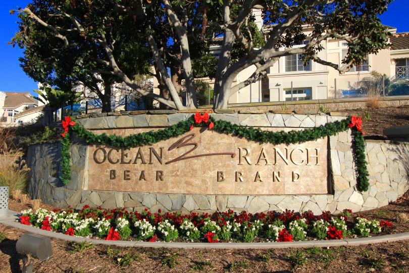entrance marquee and sign to Ocean Ranch, Laguna Niguel CA
