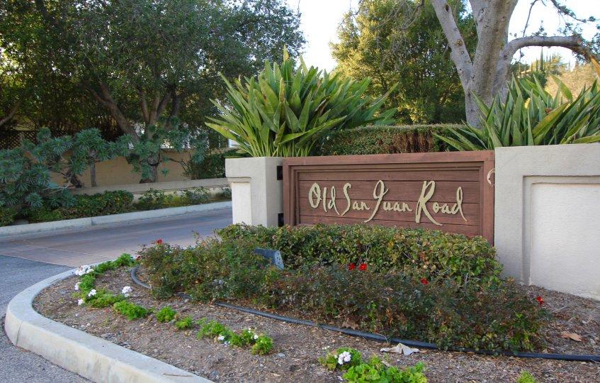 Old San Juan Road community marquee