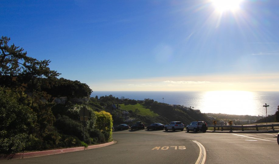 View from street overlooking ocean in Park Avenue Estates