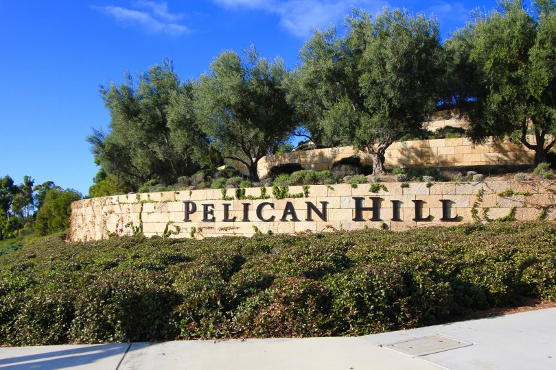 Front entrance and marquee to Pelican Hill Newport Coast CA