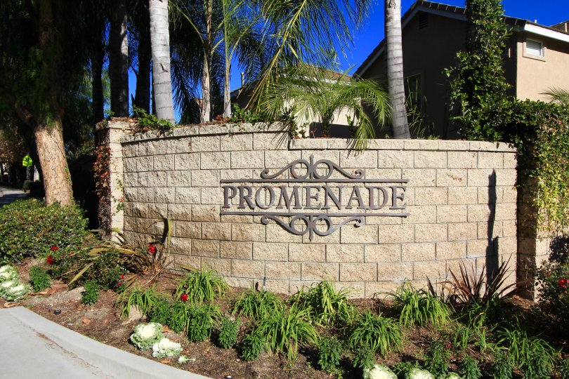 Entrance to the community of Promenade in Aliso Viejo