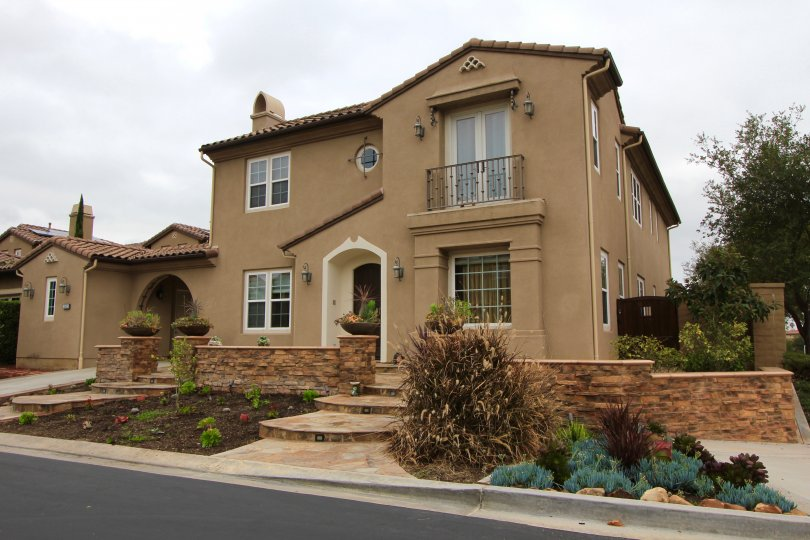 A private residence within the Rancho Madrina gated community