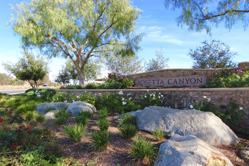 Front entrance and marquee sign to Rosetta Canyon Lake Elsinore CA