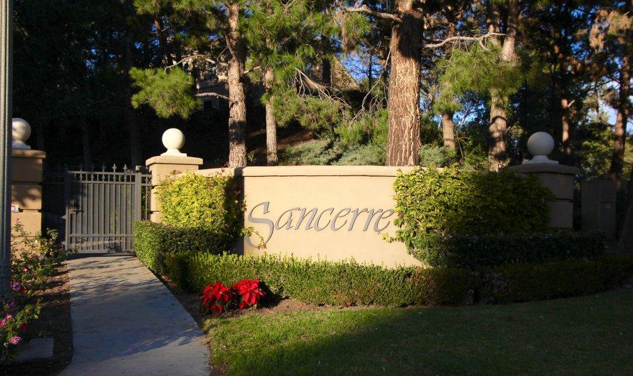 Sign and marquee to Sancerre Newport Coasrt CA
