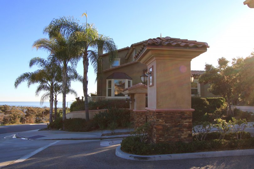 Impressive entrance to the Seaview community of San Clemente Ca