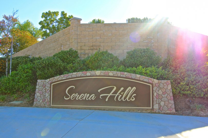 Entrance to Serena Hills in Temecula Ca