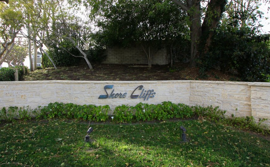 Sign and marquee to entrance of Shore Cliffs Corona Del Mar CA