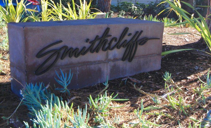 Front entrance sign for Smithcliffs Laguna Beach