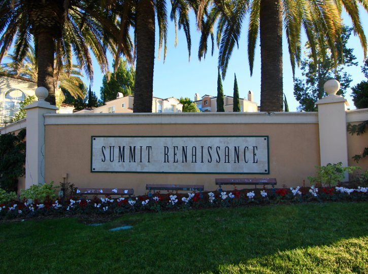 front marquee and entrance to Summit Renaissance Anaheim Hills CA