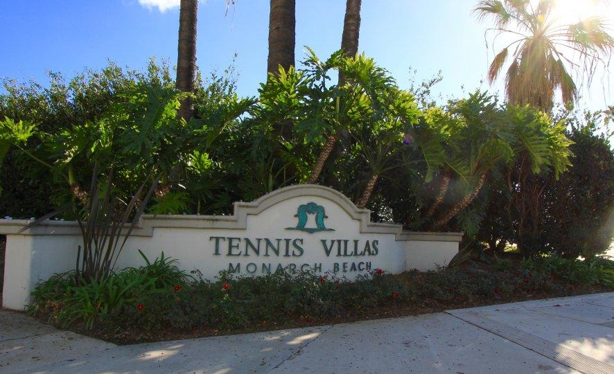 Tennis Villas Community Marquee in Dana Point Ca