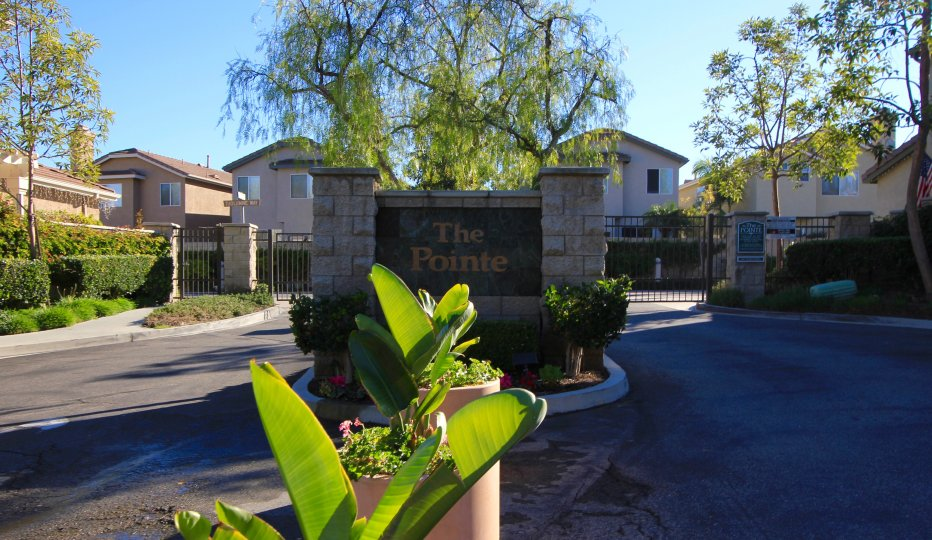 Entrance to the private gated community known as The Pointe