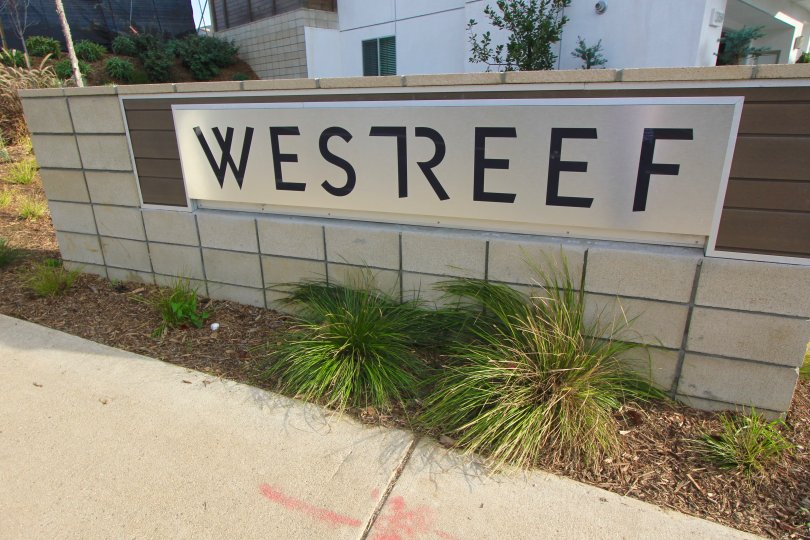 Front entrance marquee to community of Westreef