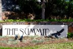 The sign at the entrance to the exclusive community of The Summit