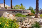 The Canyon Shores marquee sits at the entrance to the community