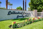 A large marquee greets the guests and residents of Cathedral Canyon Country Club