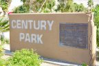 The concrete marquee for Century Park in Cathedral City