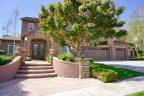 This Crown Ridge Estates home features impressive hardscaping