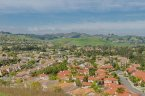 A view of the surrounding hillside from Los Serranos in Chino Hills Ca