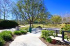 Beautiful landscaping is maintained throughout the Coto Sports Park located near Oak Knoll